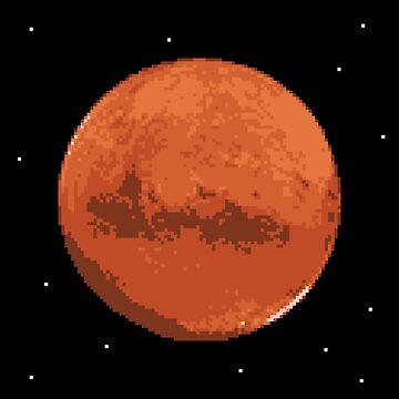 Pixel Mars by tanyaofmars