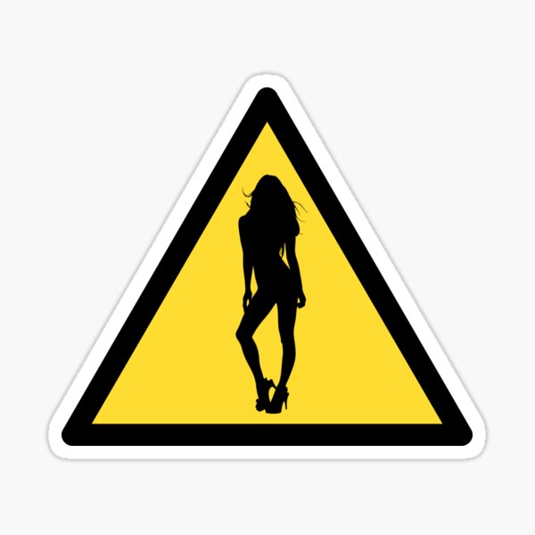 Danger : woman Sticker