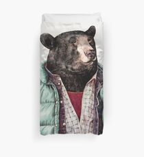 Black Bear (Mint Green) Duvet Cover
