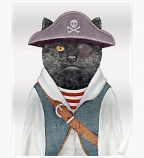 Pirate Cat Poster