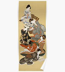 Hokusai Katsushika - Five Beautiful Women Poster