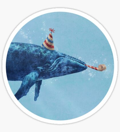Party Whale  Sticker