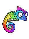 Rainbow Chameleon by jitterfly