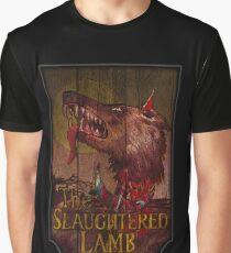 Amerikanischer Werwolf - Geschlachtetes Lamm Grafik T-Shirt