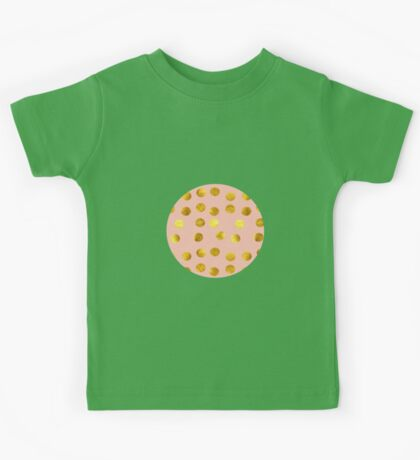 Gold and pink dots Kids Clothes