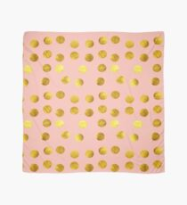 Gold and pink dots Scarf