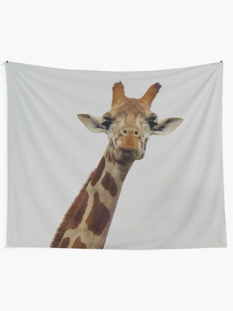 Alternate view of Giraffe Gaze Tapestry