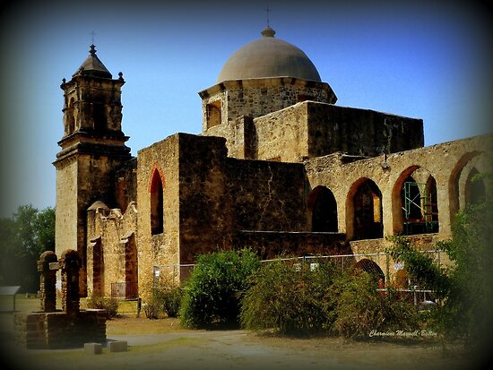 Mission San Jose in San Antonio by Charmiene Maxwell-Batten
