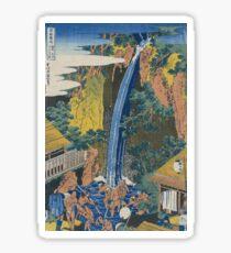 Hokusai Katsushika - Roben Waterfall At Ohyama Sticker
