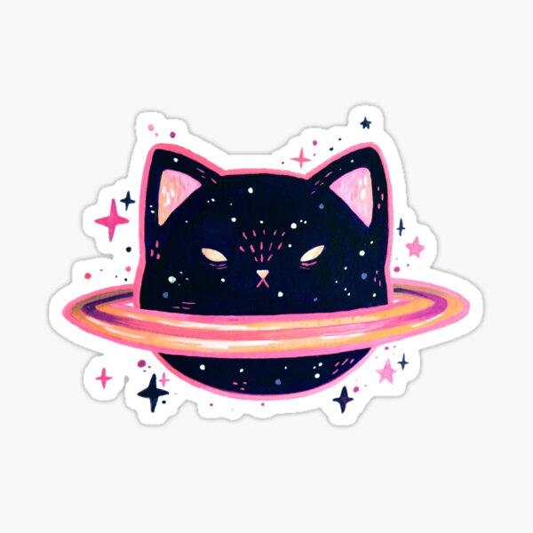 saturn cat Sticker