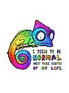 I tried to be normal. Rainbow Chameleon by jitterfly