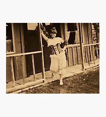 saloon girl on the prowel Photographic Print