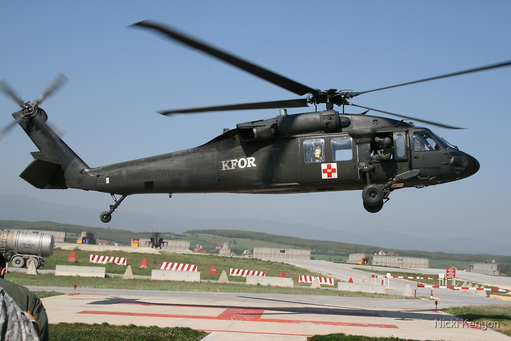 MEDEVAC helicopter by Nicki Kenyon