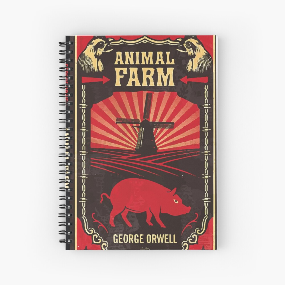 Animal Farm Book Cover Hardcover Journal By Candiedkaydi Redbubble