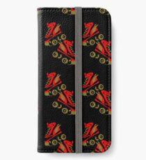 Cool golden roller skates Roller Derby iPhone Wallet/Case/Skin