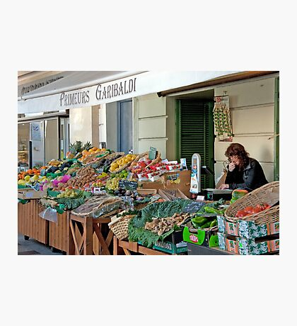 Fruit And Produce Lady Photographic Print