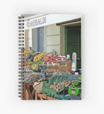 Fruit And Produce Lady Spiral Notebook