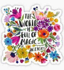 the world is full of magic Sticker