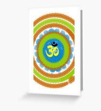 Dharma Om  Greeting Card