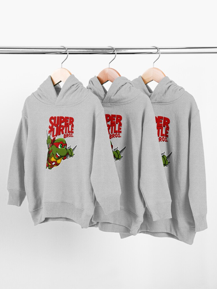 Alternate view of Super Turtle Bros - Raph Toddler Pullover Hoodie