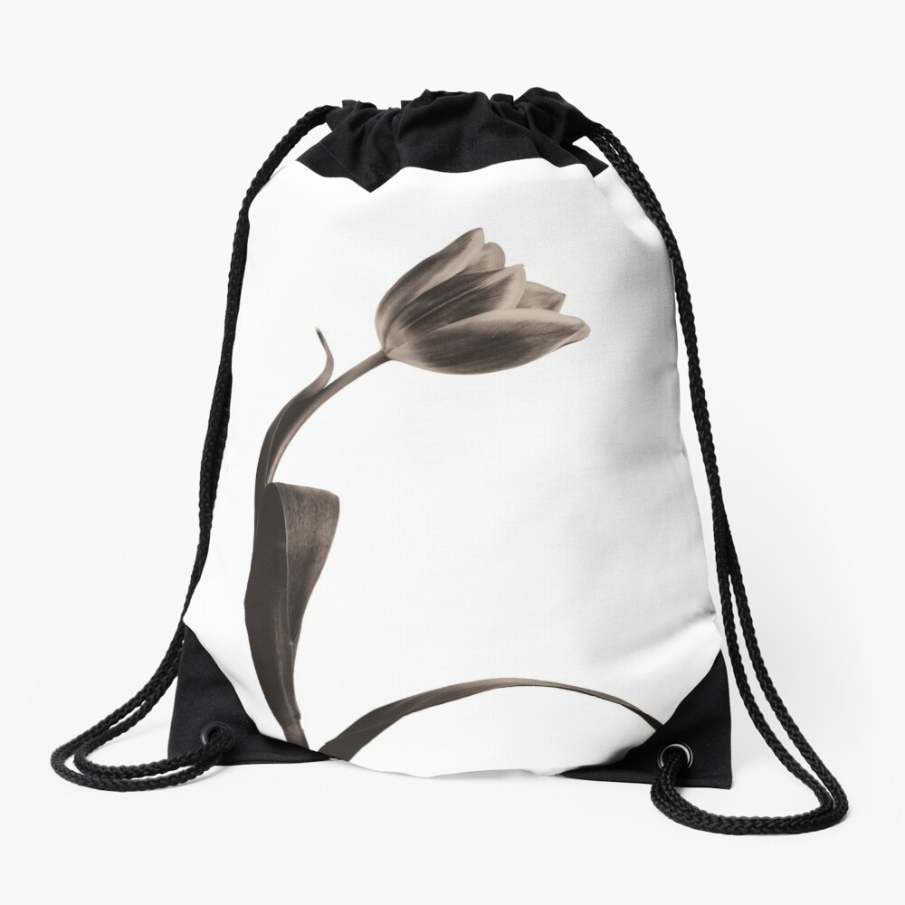 Antique Tulip Drawstring Bag