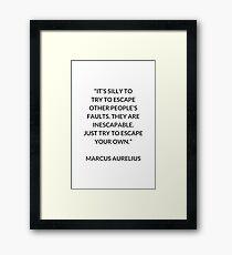 MARCUS AURELIUS  Stoic Philosophy Quote  Framed Print