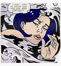 Roy Lichtenstein - Drowning girl Poster