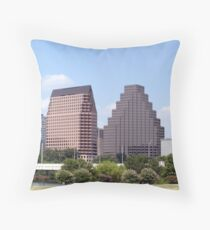 Downtown Austin, Texas Cityscape Throw Pillow