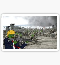 Kekistani soldiers charging Sticker