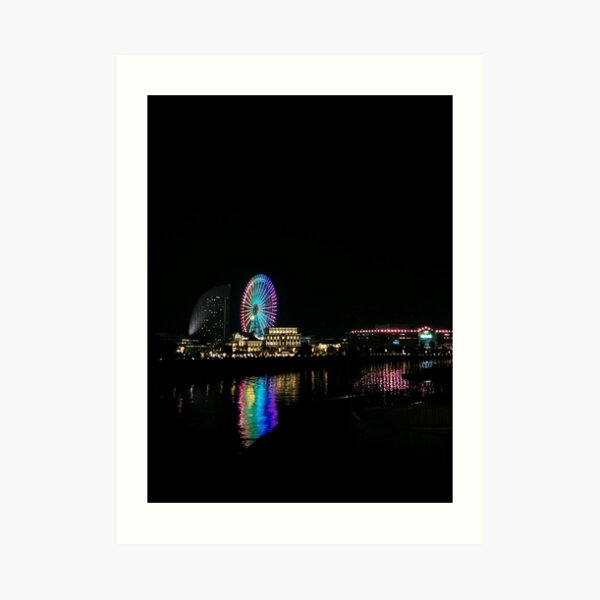 Yokohama Wheel, Japan Art Print