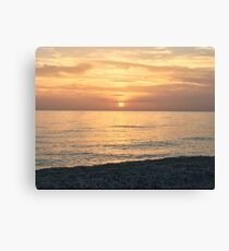 Sunrise Beach Canvas Print