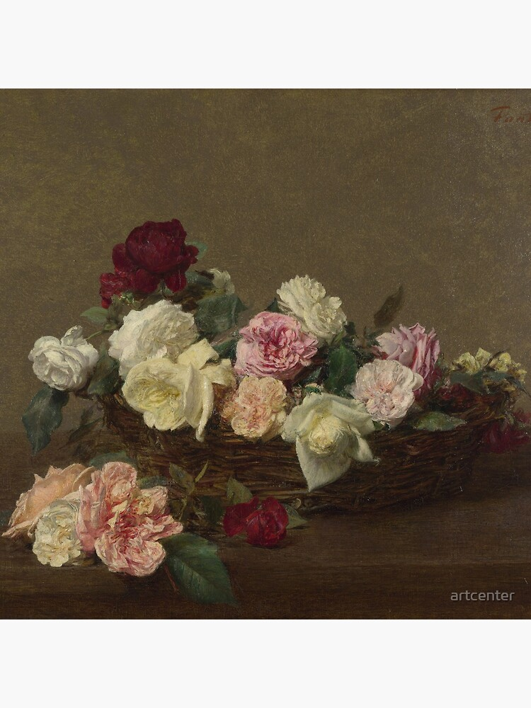 Ignace-Henri-Theodore Fantin-Latour - A Basket Of Roses by artcenter