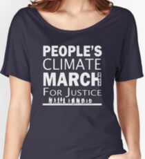 People's Climate Change March for Justice 2017 Women's Relaxed Fit T-Shirt