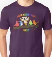 Neurodiverse Family Birds Unisex T-Shirt