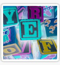 Children's Alphabet Blocks Sticker