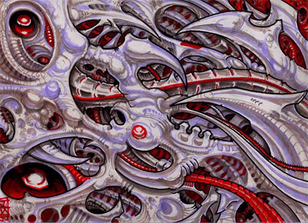 biomechanical landscape  by Derek Mullins