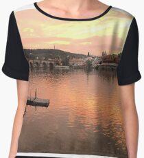 Prague Sunset Panorama Chiffon Top