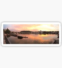 Prague Sunset Panorama Sticker