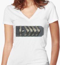 Silver elite master Women's Fitted V-Neck T-Shirt
