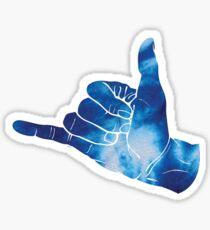 Baesic Shaka Blue Tye Dye Sticker