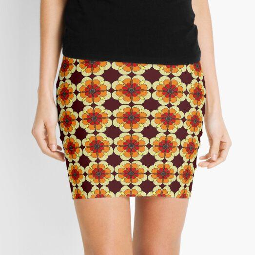 Retro Marigold Mini Skirt
