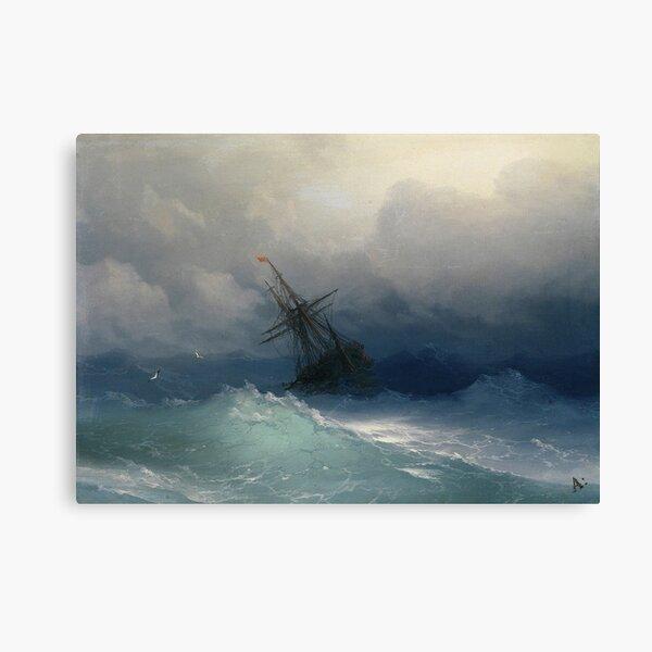 Ivan Ayvazovsky - Ship On Stormy Seas Canvas Print