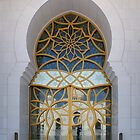Entrance of Grand Mosque, Abu Dhabi, UAE by wondertree