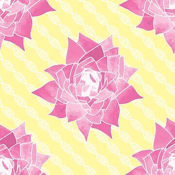 Flowers and Twists Yellow by sarahmca