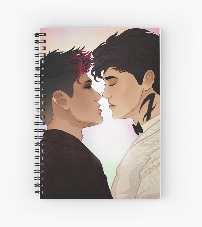"""First Kiss Anniversary"" Spiral Notebook By Nirihs"