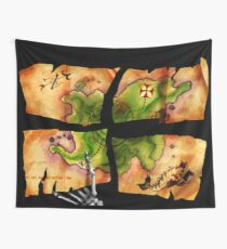 The Big Whoop four-pieced treasure map Wall Tapestry