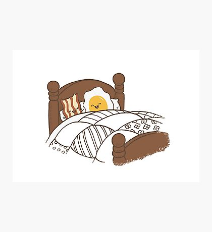 Breakfast In Bed Photographic Print