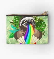 Sloth Spitting Rainbow Colors Studio Pouch