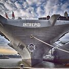 USS Intrepid's Bow by Dyle Warren