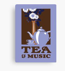 Tea & Music 2 Canvas Print